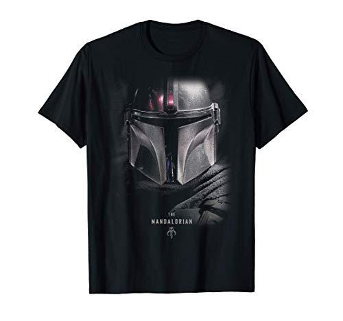 Star Wars The Mandalorian Big Face Poster Camiseta
