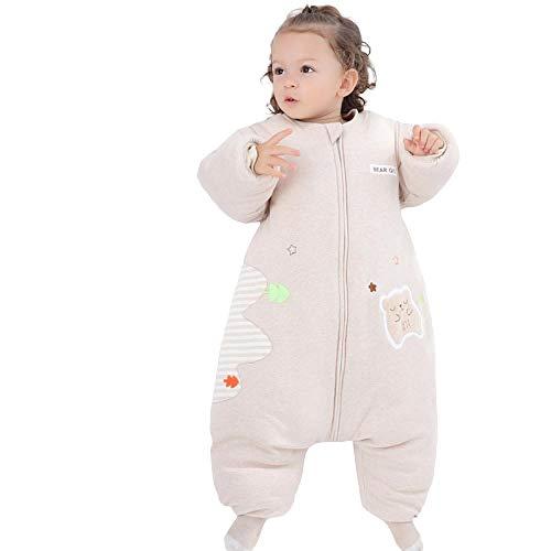 Algodón Unisex Saco de Dormir,Edredón a prueba de golpes para niños de invierno cálido, saco de dormir de algodón, saco de dormir para bebés-1_Los 90cm