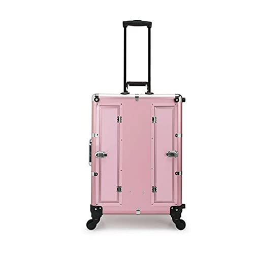 Hard Shell Luggage Set Professional Multi-Function Touch Screen Version Cosmetic case with MP3 Music Aluminum Alloy Suitcase Large-Capacity Storage Toolbox Waterproof,wear-Resistant,Anti-Theft