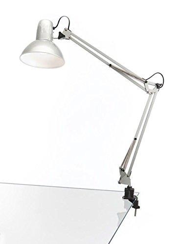 takestop® Lampada YF Professionale da Tavolo SCRIVANIA Braccio SNODATO Base Clip 33X33 CM Estetista Manicure Pedicure Luce Colore Casuale