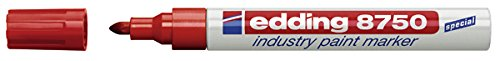 edding Lackmarker edding 8750 industry paint marker, 2-4 mm, rot