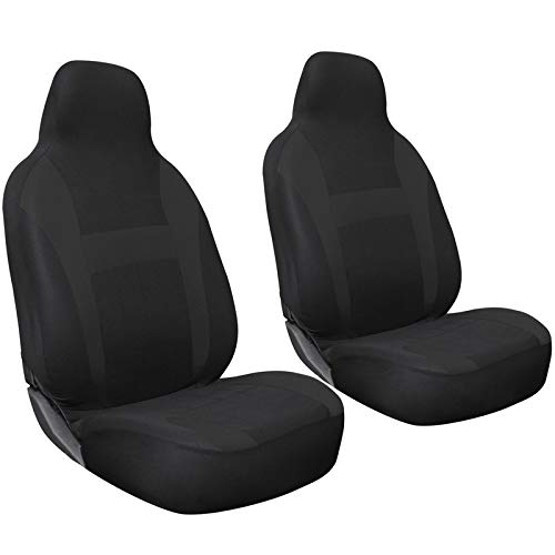 Motorup America Auto Seat Cover Set - Integrated High Back Seat - PU Leather Covers Fits Select Vehicles Car Truck Van SUV - Black