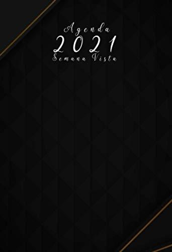 Agenda 2021 semana vista: agenda ANUAL 2021 A6 |12 meses enero a diciembre 2021 - español| Planificadora diaria y mensual , planner para hombre y mujer calendario bolsillo