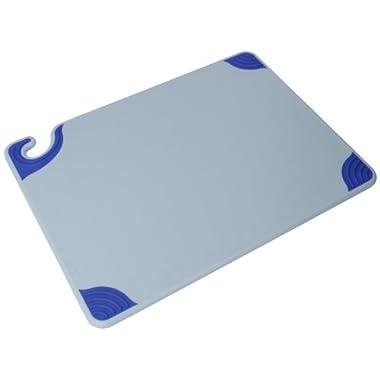 San Jamar CBG152012BL Saf-T-Grip Cutting Board, 15  x 20 , Co-Polymer, Blue, NSF