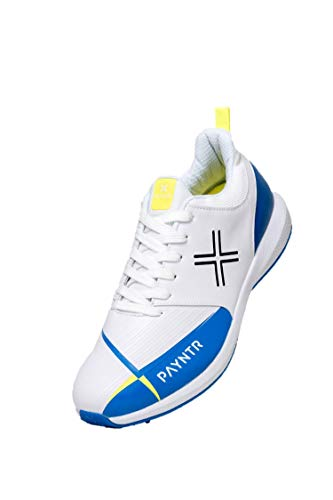 Payntr V Pimple - White & Blue Cricket Shoes - US 11/UK 10