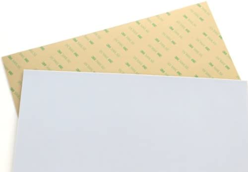 Teflon PTFE sheet Size 6 x 12 0 03 1 32 thick with 3M 300LSE industrial strength self adhesive product image