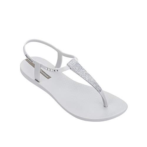 Ipanema Class Pop Sandal 82683 Sandalen Damen Zehen-Sandale Gummi-Sandalen Knöchelriemchen T-Spangen offene Zehe Flipflops-Sandale Glitzer (Grau (24986 Grey/Glitter Grey), 38)