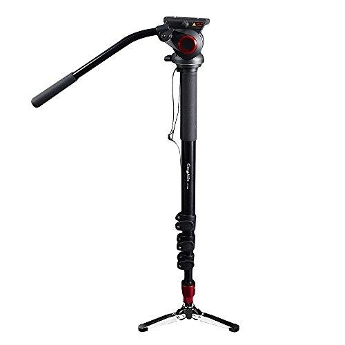 Portable Fluid Head fotocamera monopiede per videocamera/DSLR supporto treppiede video professionale 182,9cm altezza massima con capacità di carico massimo 10kilograms