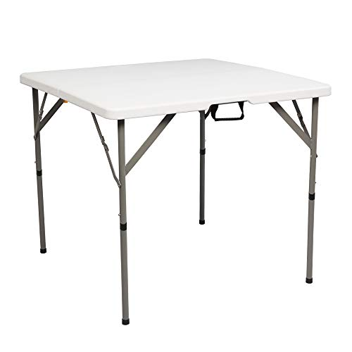 34' Blow Molding Foldable Square Table(only table)