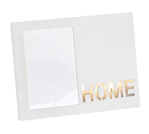 Glorex 6 2027 302 Fotolijst met verlicht opschrift Home van karton, ca. 23 x 18 x 2 cm.