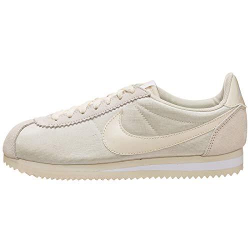 Nike Damen Classic Cortez Nylon Sneaker, Beige (fossil/fossil White Beige), X-Large