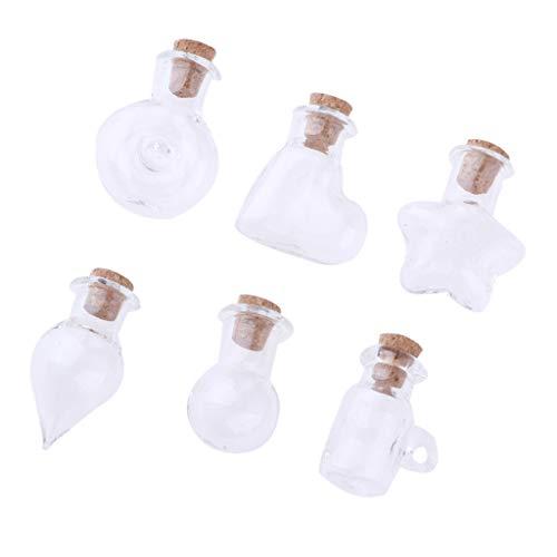perfeclan Frascos Diminutos Que Deseen Botellas de Mensajes Encantos Decorativos para Miniatura de Casa de Muñecas 1/12