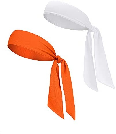 DEMIL Head Tie Tennis Tie Hairband Sports Headband Ideal for Athletics Pirates Karate Keep Sweat product image