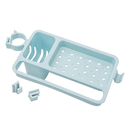 CAVIVIUK Fregadero de Cocina Soporte de Drenaje Esponja Jabón Trapo Estante de Almacenamiento Soporte para el hogar Herramienta de Cocina,Azul