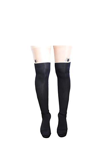 Parijse - vrouwensokken - elastische panty - met motief - vleeskleurig - naakt - één maat