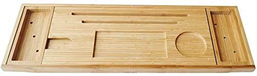 Bandeja de bañera de bambú, Caddy Extensible, Rack Organizador de baño de Madera, para bañera de Ducha Baño Libro Tableta de Vino Estante de Lectura