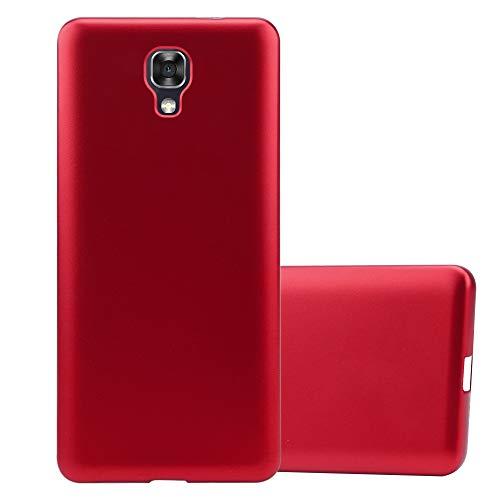 Cadorabo Hülle für LG X Screen in METALLIC ROT - Handyhülle aus flexiblem TPU Silikon - Silikonhülle Schutzhülle Ultra Slim Soft Back Cover Case Bumper