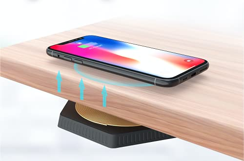 Starlink - Chargeur à Induction sans Fil Longue Distance 33 mm, 3,3 cm, Charge à Travers la Table, Universel 10 W Qi, Chargeur à Induction Compatible avec iPhone, Samsung, Huawei, Xiaomi, et Autres