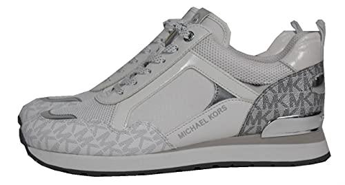 Michael Kors Wilma Trainer - Zapatillas para mujer, color Plateado, talla 38 EU