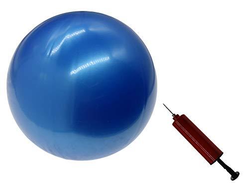 X&W 20,3 cm Gymnastikbälle, Barre-Ball, kleiner Workout-Ball, Mini-Gymnastikball für Pilates, Therapieball, Yoga, 20,3 cm Ballpumpe mit Nadeln für Rücken-Fitness, Blau