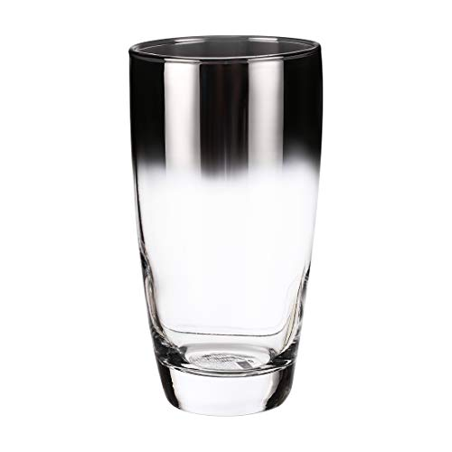 MINISO Glass Tumbler Drinking Glasses Water Juice Beer Party Perfect Wine Gift Idea for Women 375ml Black