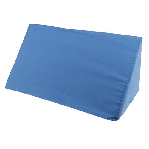 Amuzocity Cama de Apoyo Almohada de Cuña Almohadilla de Elevación Ortopédica Cremallera Cubierta Azul - 20x10x8 Pulgadas
