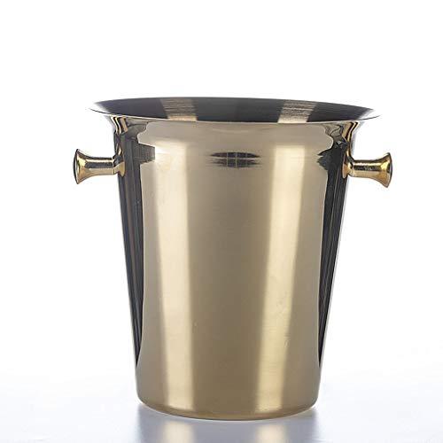 WZHZJ Comercial Hielo Especial Cubo Barras de Acero Inoxidable KTV Spit Vino de Champagne Cerveza Hielo Rojo Vino de Gran Capacidad Barril