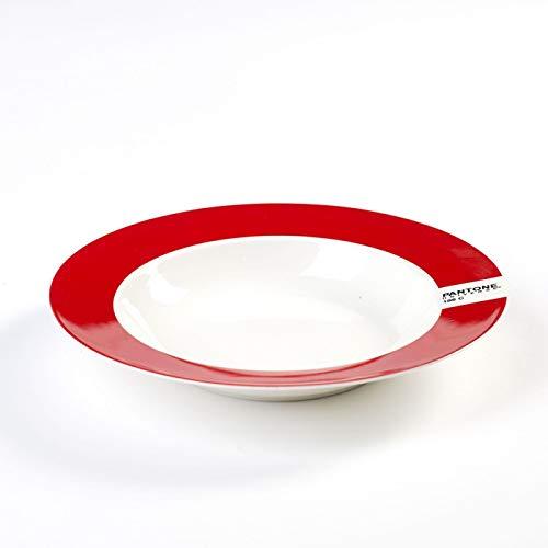 Assiette Creuse Ø22 186C Rouge