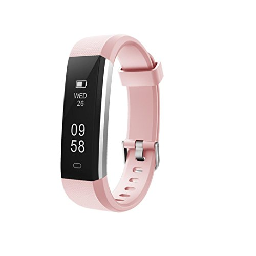 Alexis 2018 Fitness-Tracker, wasserdicht, Schrittzähler, Kalorienzähler, schlankes Armband für Männer, Frauen und Kinder, Rosa
