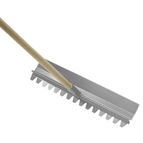 Kraft Tool CC113 19-1/2'x4' Magnesium Concrete Rake w/54' Wood Handle