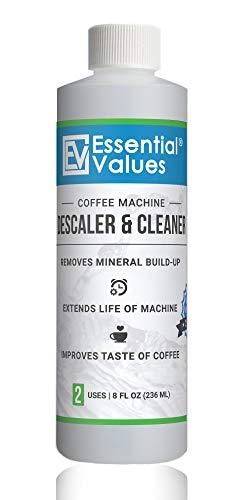 Descaling Solution / Descaler For Keurig, Delonghi, Saeco, Gaggia, Nespresso And All Single Use, Coffee Pot & Espresso Machines By Essential Values