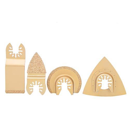 Hojas de sierra, hojas de herramienta oscilantes Hojas de multiherramienta, duraderas, universales, universales, hojas de sierra oscilantes para metales blandos, plásticos, madera