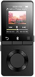AGPTEK 16GB MP3 Player Bluetooth 4.0 Loud Speaker, Metal Lossless Music Player Supports FM Radio Recording, Expandable up ...