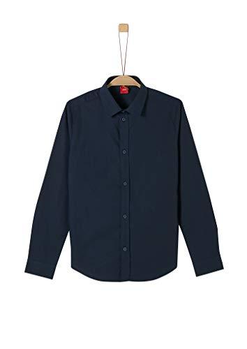 s.Oliver Jungen Slim: Elegantes Stretchhemd dark blue L.SLIM