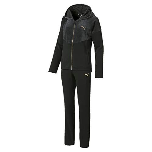 PUMA Mix Mädchen Trainingsanzug mit Kapuze Puma Black 176
