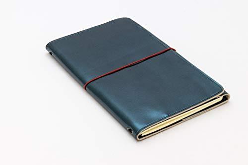LOUISE CARMEN(ルイーズカルメン) 手帳 ノートカバー フランス製 高級本革 手作りA5スリムサイズ トラベルサイズ ブルーラグーン