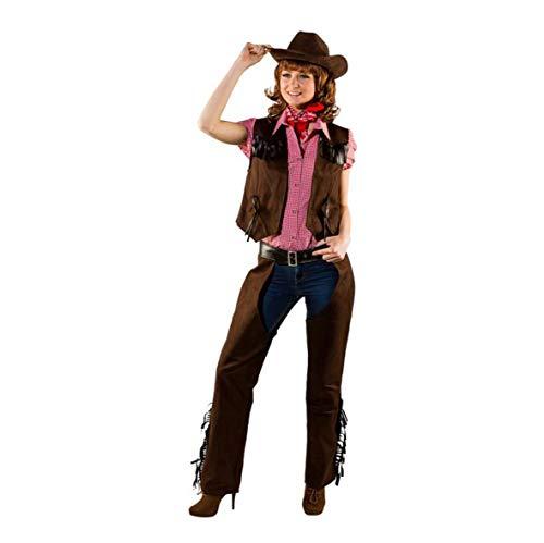 Orlob Fasching Damen Cowgirl Chaps Wildlederimitat (40/42)