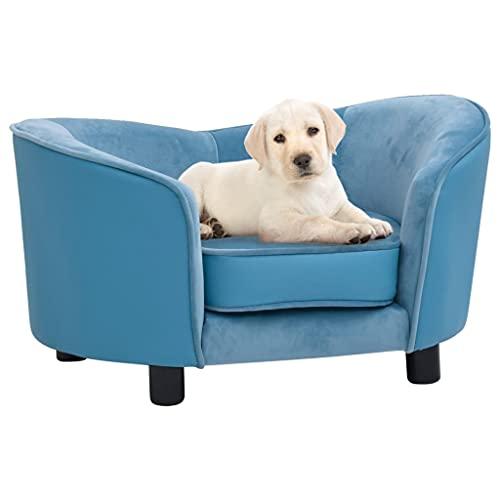 Sofá para Perros Felpa y Cuero sintético Turquesa 69x49x40 cmProductos para Mascotas Productos para Mascotas Productos para Perros Camas para Perros