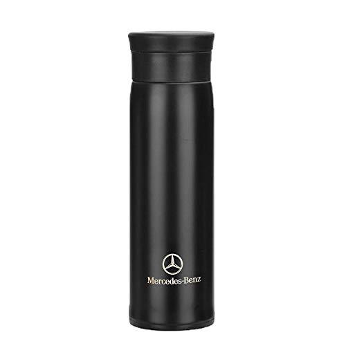 Westion Thermobecher mit Auto-Logo, Vakuumisolierte Edelstahl-Thermoflasche für heiße oder kalte Getränke, für Kaffee oder Tee, 510 ml (passend für Benz)