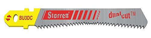 Starrett BU3DC-2 - Hoja de sierra para madera (acero rápido, bimetálica, corte dual, 2 unidades)