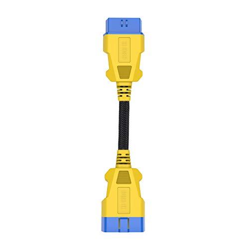 OURANTOOLS AUTOOL OBD-2 Cable Extensión Adaptador – OBD-II 16 Pines 20cm Macho a Hembra Coche Extensor de Diagnóstico Conector para Conectar Auto Lector de Códigos Herramienta de Escáner