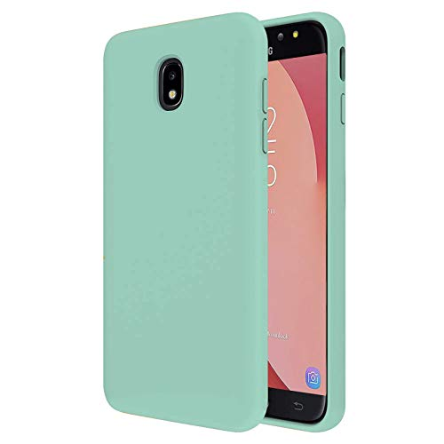 TBOC Case for Samsung Galaxy J7 (2017) J730 [5.5']- Hard Cover [Turquoise] Premium Liquid Silicone [Soft Touch] Microfiber Inner Lining [Protects the Camera] Anti-Slip Resistant to Dirt Scratches