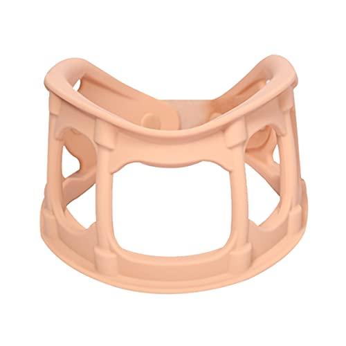 Collar de cuello, soporte de cuello apoyado para dormir, equipo de tracción ajustable, abastecimiento de cuello para dolor de columna cervical dolor de silicona fresco y suave para el soporte