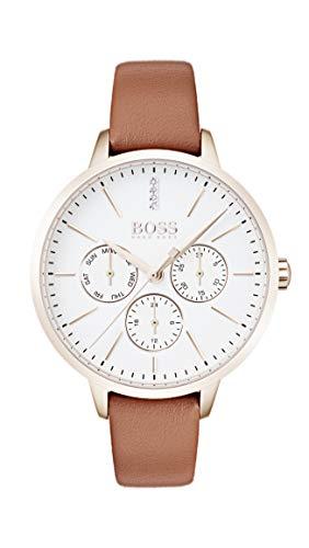 Hugo Boss Damen Multi Zifferblatt Quarz Armbanduhr mit Lederarmband 1502420
