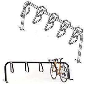 City Bicycle Rack, Double Sided, Below Grade Mount, 9-Bike