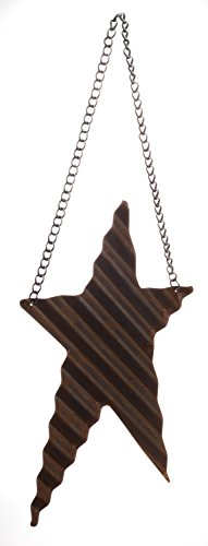 Reclaimed Small Metal Rustic Prim Star Ornament with Hanger,...