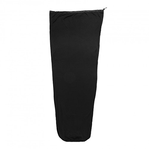 Trekmates Micropolaire Unisexe Sac de Couchage Liner, Noir, Taille Unique
