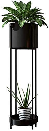 Sysyrqcer Stand di Fiori 2 Livello di Piante in Metallo Stand Soggiorno Angolo stoccaggio del Display del Display del Giardino Patio Standing Flower Rack Decorazione della casa (Taglia: Piccolo)