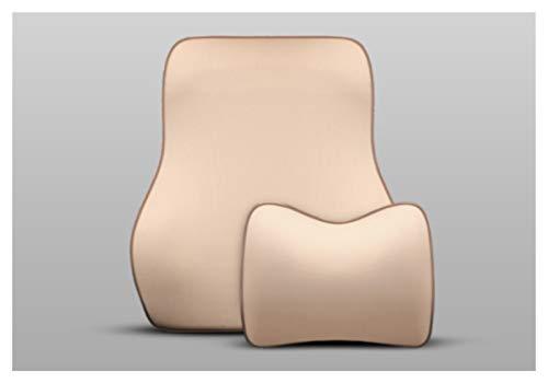 Almohada para el cuello del coche 1 unids almohada de automóvil suave memoria espuma cebado reposacabezas lumbar soporte trasero masajeador cojín almohadas para sillas de asiento de automóvil Almohada