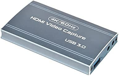 Audio Video Capture Card USB 3.0 & Capture Device 4K to HD 1080P 60FPS Streaming Gaming Broadcast